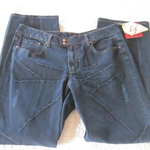 7 For All Mankind Jeans 18 Blue Distressed
